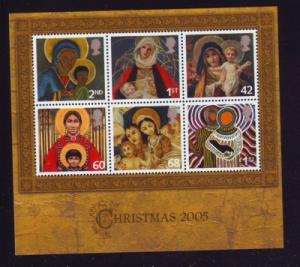 Great Britain Sc 2327 2005 Christmas stamp sheet mint NH