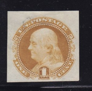 112 P3 VF+ proof on india paper unused with rich color cv $ 55 ! see pic !