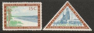 Netherlands Antilles 1955 Sc 233-4 set MNH**