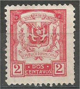 DOMINICANA,  1924, mint 2c , Coat of Arms, Scott 234