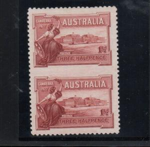 Australia #94a (SG #105a) Extra Fine Mint Imperf Between Pair **With Cert.**