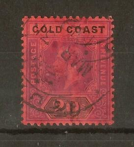 Gold Coast 1913 GV 20/- SG84 Fine Used Cat£120