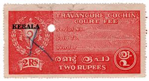 (I.B) India Revenue : Kerala Court Fee 2R