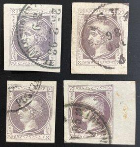 Austria #P9B Used (LOT of 4 examples) c1867-1876 [R791]