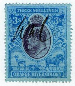 (I.B) Orange River Colony Revenue : Duty Stamp 3/-