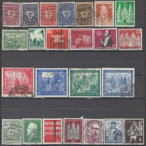 COLLECTION LOT OF #1032 GERMANY 24  STAMPS 1922+ CV+$41