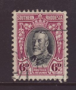 1933 Southern Rhodesia 6d Perf 11½ Fine Used SG20a