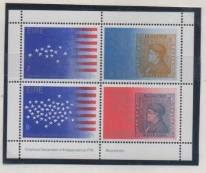 Ireland Sc 392b US Bi-Centennial stamp sheet mint NH