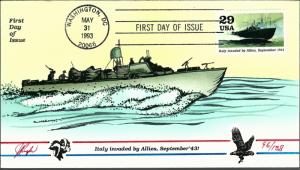 Beautiful Pugh Designed FDC Italy Invaded by Allies  #96 of 138