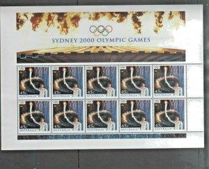 Australian Stamps 2000 Olympics Sydney 45c Sheet Opening Cathy Freeman X10 1907