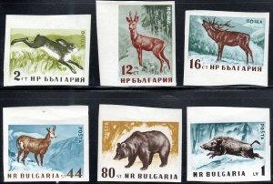 Bulgaria 1004-09 - Mint-NH - Mammals (Imperf) (1958) (cv $11.00)