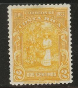 Costa Rica Scott 118 MH* 1923 Thinned stamp