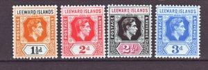 J22154 Jlstamps 1949 leeward islands part of set mh #122-5 king