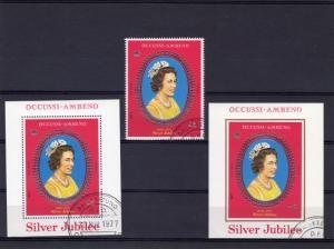 Timor (Ocussi-Ambeno) 1977 Silver Jubilee Q.Elizabeth II Set+2 SS Fine Used