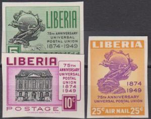 Liberia #330-1, C67 MNH F-VF Imperf CV $3.25 (V139)
