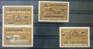 Match Box Labels ! industry machines elements science GN3