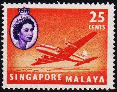 Singapore. 1955 25c S.G.47  Unmounted Mint