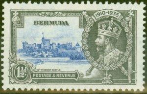 Bermuda 1935 1 1/2d Ultramarine & Grey SG95m Bird by Turret V.F Very Lightly Mtd