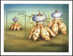 Central African 1999 Mushrooms S/S MNH
