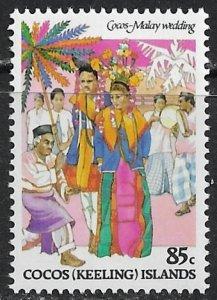 Cocos Islands ~ Scott # 110 ~ MNH ~ Cocos-Malay Wedding