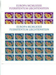 Liechtenstein  1973  Europa mini sheet  Mint VF  NH