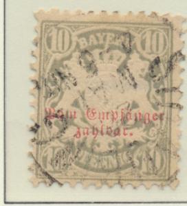 Bavaria (German State) Stamp Scott #J6, Used - Free U.S. Shipping, Free World...