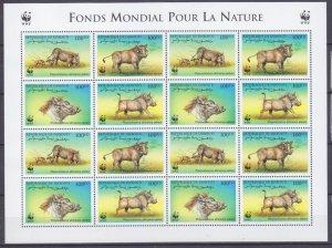 2000 Djibouti 678-681KL WWF / Fauna 40,00 €