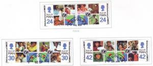 Isle of Man Sc 710-15 1996 UNICEF 50 Years stamp set used