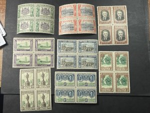 SOUTHERN RHODESIA # 56-63-MINT/NEVER HINGED--COMPLETE SET OF BLOCKS OF 4--1940