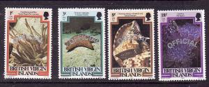 Virgin Is.-Sc#o1//o7-four unused NH Marine Life-1985-