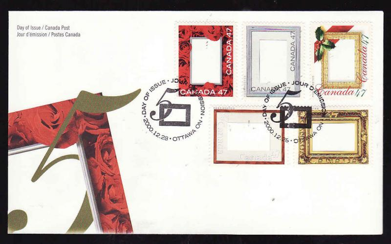 Canada-Sc#1882a-e-stamps on FDC-Picture Postage-2000-