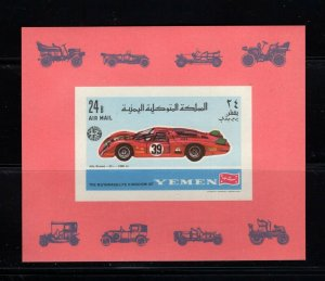 Yemen (Kingdom) Michel #Bl147B (1969 Racing Car sheet) VFMNH CV €9.00