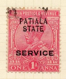 Indian States Patiala 1913 Early Issue Fine Used 1a. Optd 075628