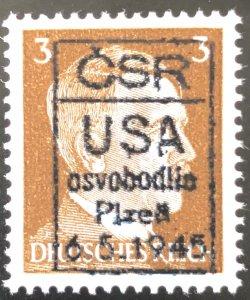 Germany 1945 Hitler 3pf Osvobodie Ovpt-MNH