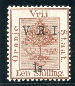 Orange Free State 1900 QV 1s on 1s brown MLH. SG 121. Sc 52e.