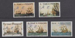 St. Thomas & Prince Islands   #891-95   mnh    cat $10.00