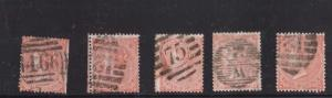 Great Britain #34 Used 5 Better Numeral Cancels