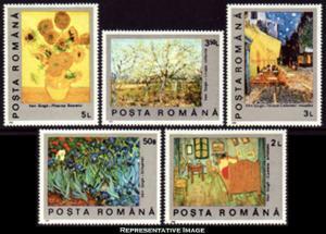 Romania Scott 3634-3638 Mint never hinged.