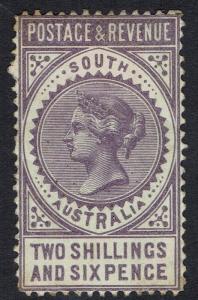 SOUTH AUSTRALIA 1886 QV POSTAGE AND REVENUE 2/6 PERF 11.5 - 12.5