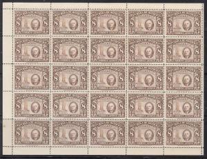 Honduras Scott C158 Mint NH sheet (Catalog Value 40.00) - small margin bend