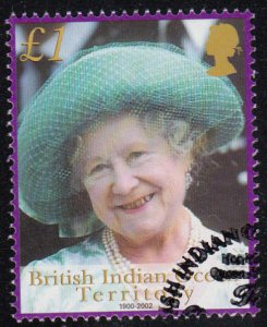BIOT 2001 used Sc #246 1pd Wearing green hat Queen Mother