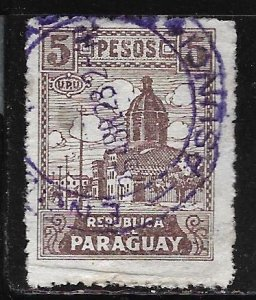 Paraguay 297: 5p Cathedral in Asunción, used, F-VF