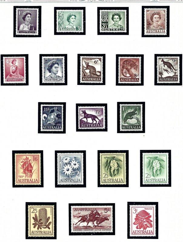 Australia 314-31 MNH 1959-60 Definitive set