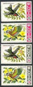 ST LUCIA 1969 BIRDS Set Sc 241-244 MNH