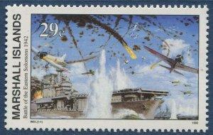 Marshall Islands 1992 World War 2 WW II Scott 324 Battle Eastern Solomons W51 NH