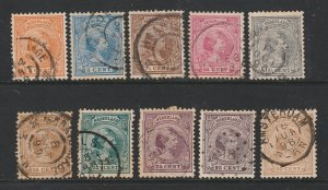 Netherlands a small used lot of old Wilhelmina