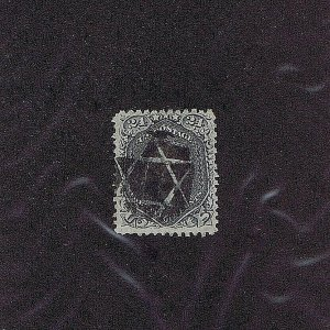 SC# 78a USED 24C WASHINGTON NEGATIVE STAR OF DAVID FANCY CCL, 1862, 2019 PF CERT