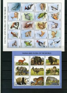 LESOTHO 1998 FAUNA/WILDLIFE 2 SHEETS OF 9 & 20 STAMPS MNH