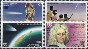 1986 Vanuatu Halley´s Comet, Space, complete set VF/MNH, CAT 9$