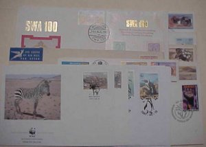 SOUTH WEST AFRICA  FDC 17  DIFF. 1964-1984 CACHET UNADDRESSED /2 ADDRESSED